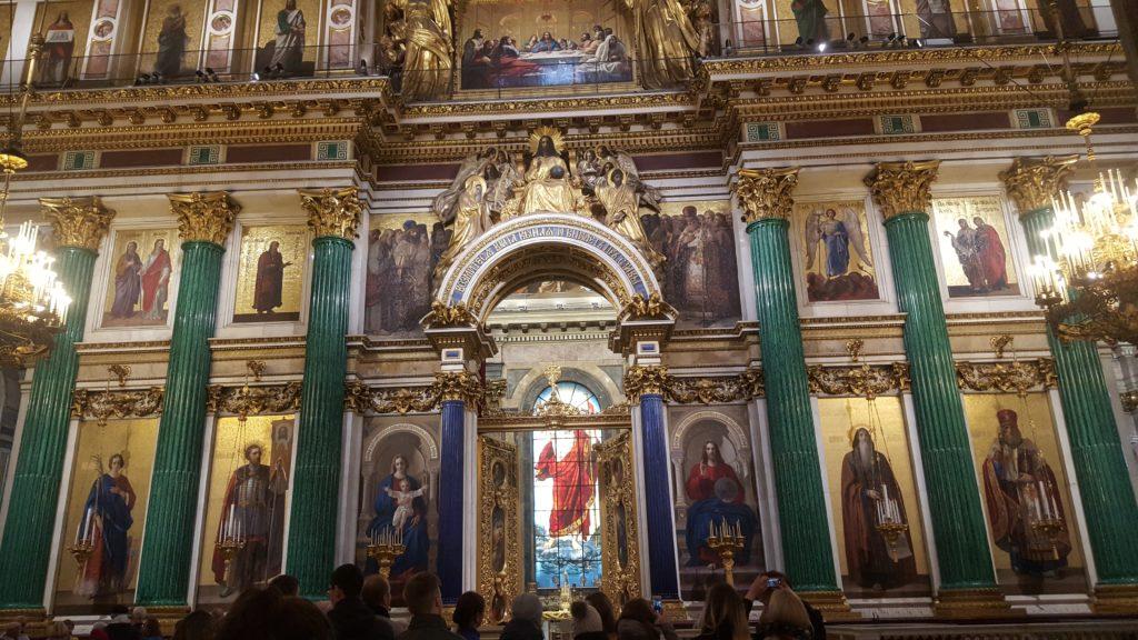 Visite de l'Eglise Saint Isaac à Saint-Petersbourg lau à la menthe