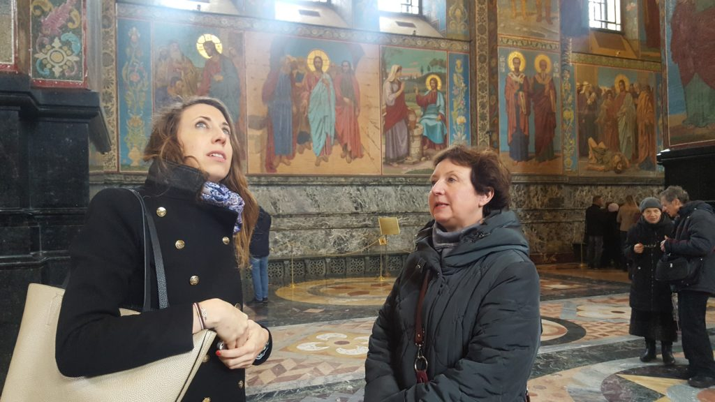 Saint-Sauveur sur le Sang Versé église Saint-Petersbourg Lau à la menthe