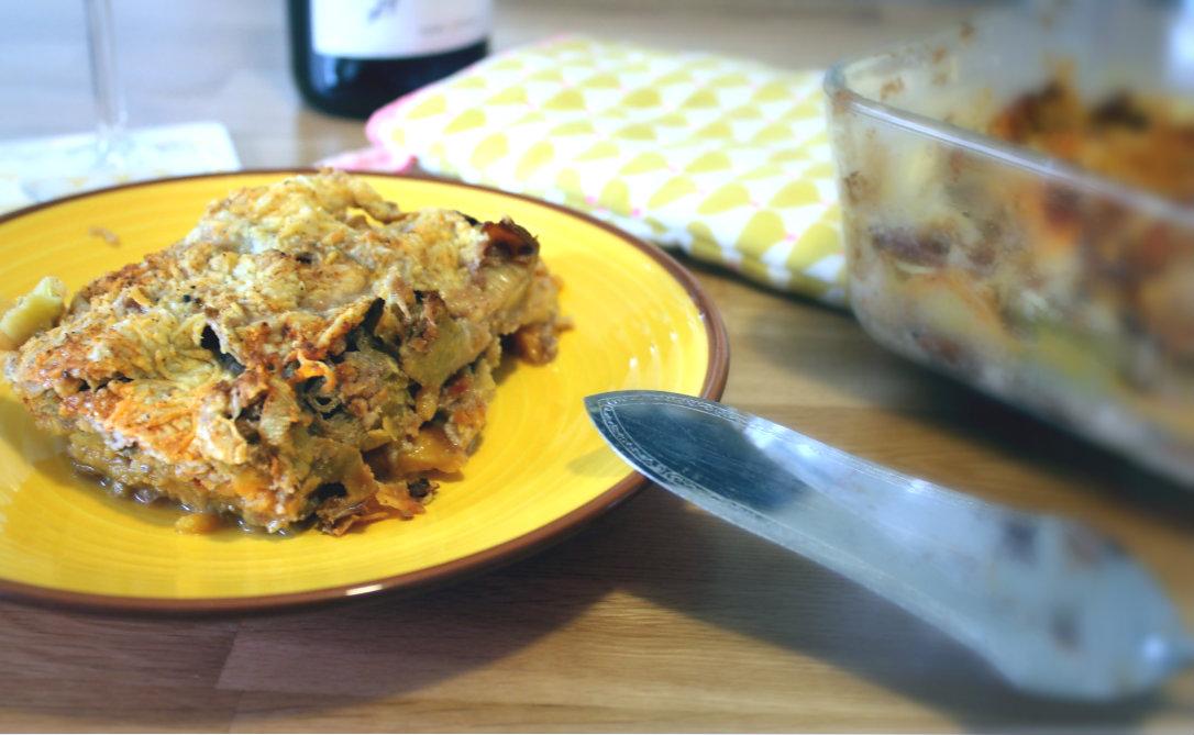 Gratin dauphinois sauce bechamel vegan patate douce poireau fromage végétal