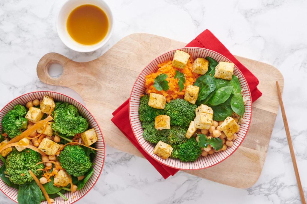 Recette de buddha bowl healthy vegan légumes d'hiver