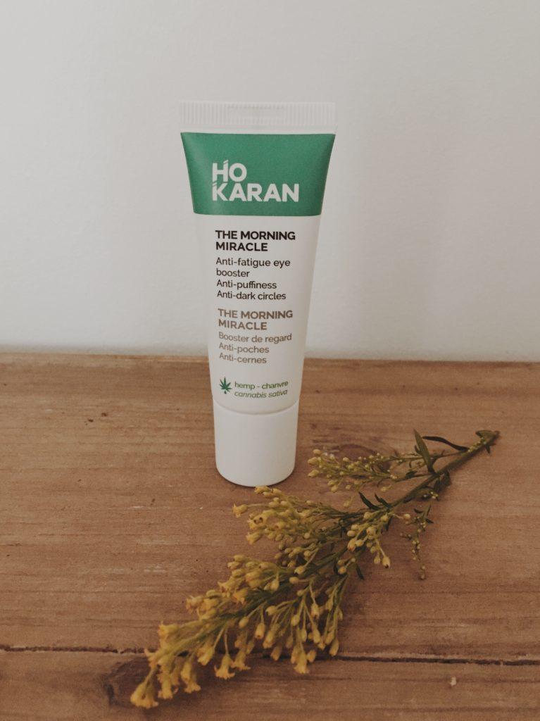 Crème contour des yeux Miracle Morning de Ho Karan testée par Lau à la menthe