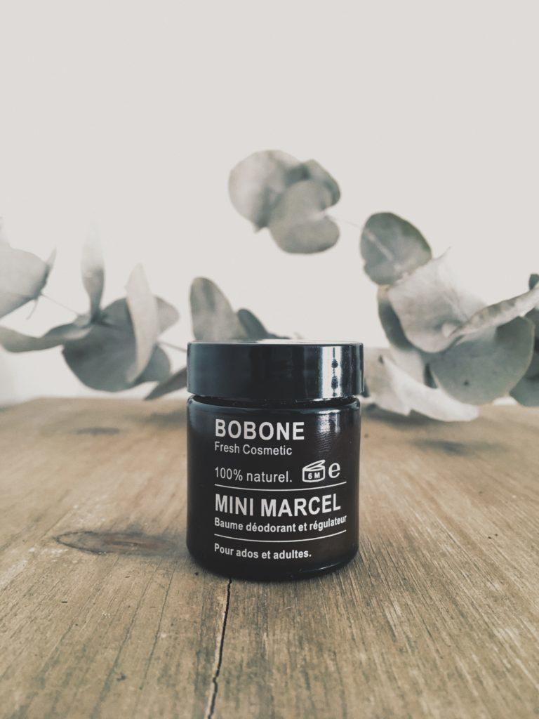 Pot de déodorant Marcel baume déodorant crème Bobone Fresh Cosmetic test et avis