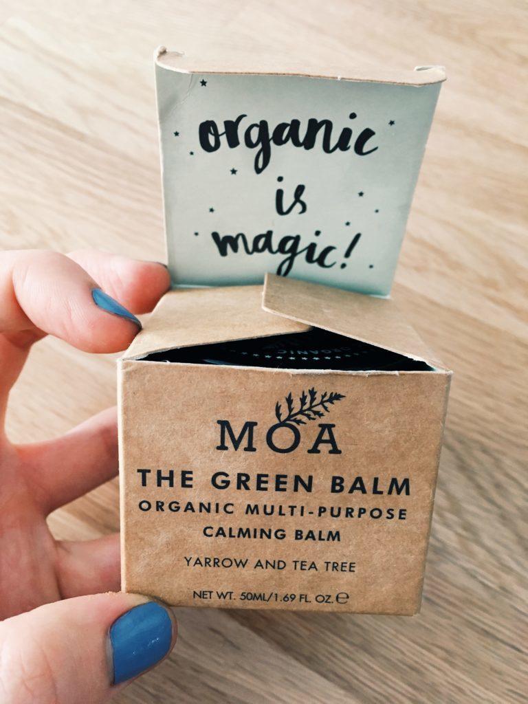 """Baume bio """"the green balm"""" de MOA au millefeuille, cicatrisant et apaisant pour la peau"""