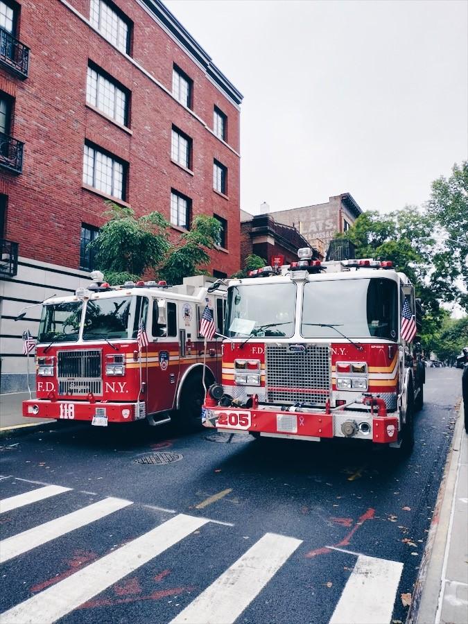 Camion de pompiers à New-York, dans le quartier de Brooklyn - 15 bonnes adresses à New-York sur le blog laualamenthe.com