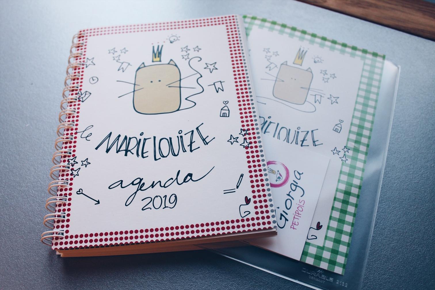 L'agenda 2019 des amoureux des chats, c'est le Marielouize Agenda ! Avec un carnet de recettes de Lau à la menthe, le blog food belge bio !