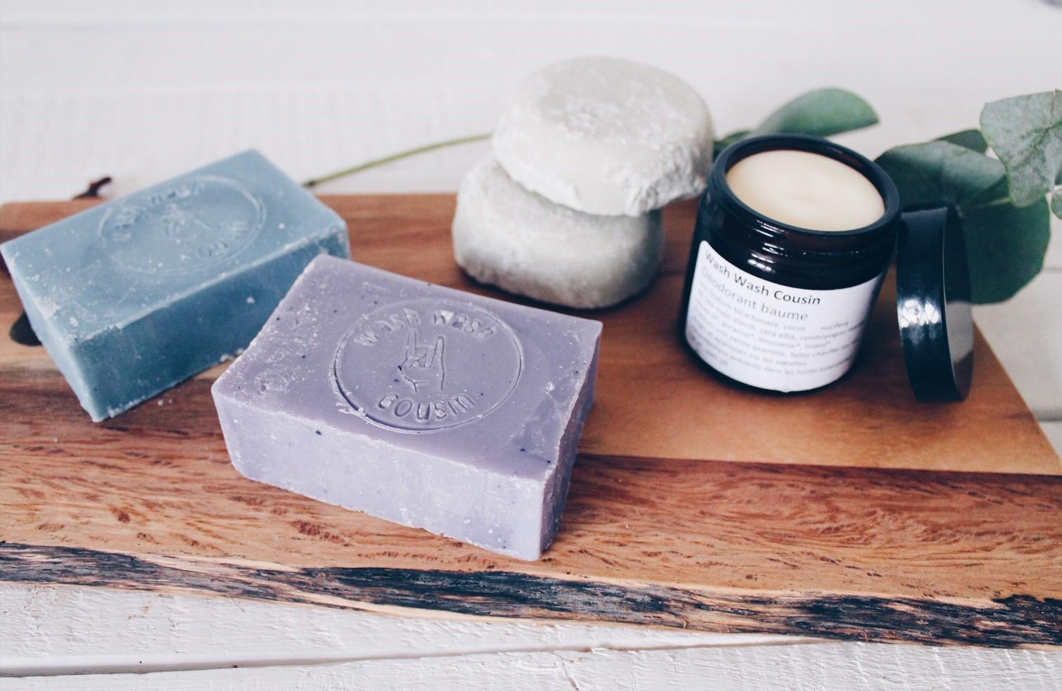 Découverte des produits made in Belgium Wash Wash Cousin, une savonnerie artisanale basée à Namur : zéro déchets et vegan !