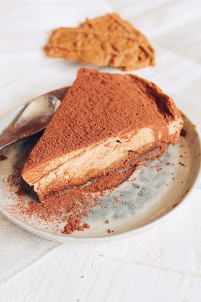 Cheesecake allégé au spéculoos et au skyr à la vanille. Recette du blog laualamenthe.com