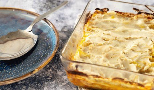 Recette de cannellonis végétalien à la bolognaise au seitan et béchamel au chou-fleur sur le blog laualamenthe.com