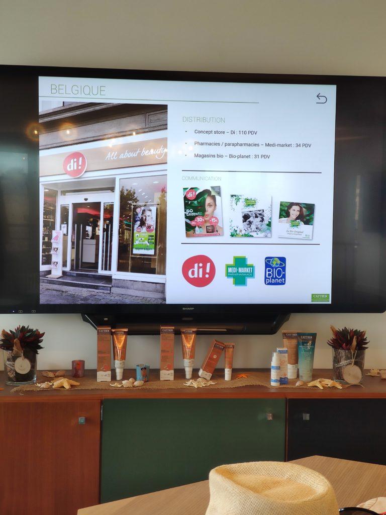 Lieux de vente des produits cosmétiques bio et naturels Cattier en Belgique